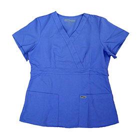 Grey medical scrub from  Changshu Kingtex Import And Export Co.Ltd