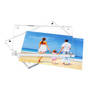 China Clear Acrylic Photo Frame, Frameless Desktop Photograph Display with Gift Box Packing