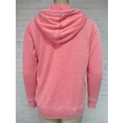 China Women's zipper hoodies with pockets, garment burnout