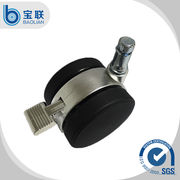 """China Double swivel 2.5"""" Nylon office chair caster with brake"""