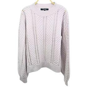 Women knitted V neck pullover