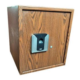 Fingerprint Wooden Color Safe from  Jiangsu Shuaima Security Technology Co.,Ltd