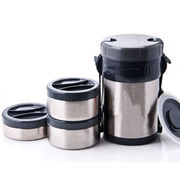 China 188 Stainless Steel Vacuum Lunch Boxes with Three Small Food Containers