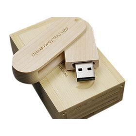 Wooden Swivel USB Flash Drive from  Shenzhen Sinway Technology Co. Ltd