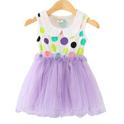 Girls' mesh sleeveless dresses from  Meimei Fashion Garment Co. Ltd