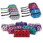 China Diamond cosmetic bags, sized 24X13X13cm, new material, packing in OPP bag, color assorted