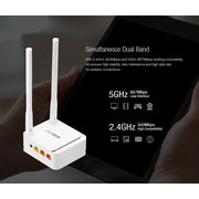 China TOTOLINK A3 AC1200 Wireless Dual BandWiFi Router, Access Point All in one design