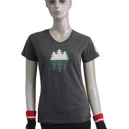 Women's V-neck T-shirts from  You Lan Apparel Co. Ltd