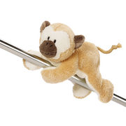 cute soft plush animal brown monkey toys, made of soft plush and PP padding, for promotion