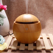 China Aickar Round Shape Wooden Essential Oil Diffuser, Mini USB Ultrasonic Aroma Diffuser Humidifier