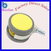 China Low-noise height adjustable rubber wheels air cleaner caster