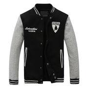 Plain Varsity Jacket from  Fuzhou H&f Garment Co.,LTD