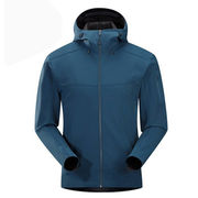 2017 outdoor waterproof men's softshell hoodie from  Fuzhou H&f Garment Co.,LTD
