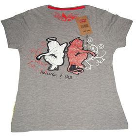 Women's cotton T-shirts from  Qingdao Classic Landy Garments Co. Ltd