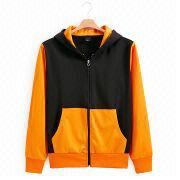 New Fashion Men's Zip Hoodies Sweatshirts from  Fuzhou H&f Garment Co.,LTD