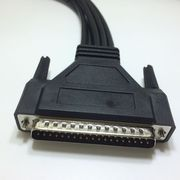 China DB37 male-to-3xDB9 female serial device servers with 2x6 DIN female cables
