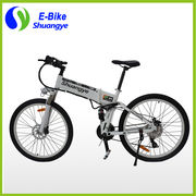 China 26'' Hidden Battery Full Suspension Folding Electric Mountain Bike