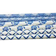 Cute Paper Blue & White Drinking Straws