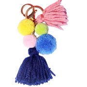 Fancy Plush Pom-pom Keychains from  Chanch Accessories International Co. Ltd
