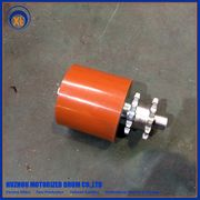 China Steel sprocket roller with PU coated