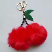 Fruit Shape Pom Pom Keychain from  Chanch Accessories International Co. Ltd