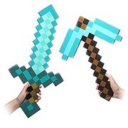 China Newest Design Game Toy Diamond Sword Foam Mosaic Sword/Pickaxe/Hamaxe