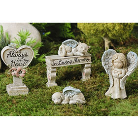 Resin Miniature Fairy Garden Angel Figurines from  Quanzhou Leader Industry Limited