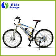 China New 26'' imitation carbon fiber hetero type tube frame electric mountain bike