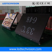 China P10 outdoor LED billboard for hotel/gas station (front service LED sign 1600mm*960mm)