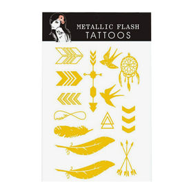 Metallic Flash Golden Tattoo Stickers from  Chanch Accessories International Co. Ltd