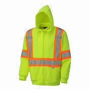 Reflective safety hoodies from  Fuzhou H&f Garment Co.,LTD