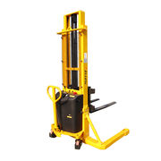 1500kg Semi Electric Pallet Stackers from  Wuxi Dalong Electric Machinery Co. Ltd