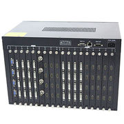 36*36 Hybrid Matrix Switches, RS-232 Control, 10.5GHz/LCD Display, Plug-in Card Type