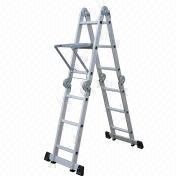 Step Stool, 12 Steps, 346cm Length, 8 Functions, Strong 100mm Hinge, EN 131/GS-marked