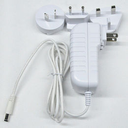 10V/3A AC/DC Adapter, White Color Interchangeable adapter with US/AU/EU/UK Plug