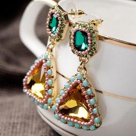 Delicate Rhinestone Drop Earrings from  Chanch Accessories International Co. Ltd