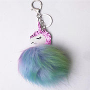 New Design Pom-pom Unicorn Keychain from  Chanch Accessories International Co. Ltd