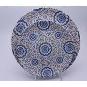 China Eco bamboo dinnerware set with blue flower,set of 4,biodegrade and renewable