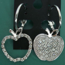fashion Full Rhinestone Earrings from  Ningbo Fashion Accessories Factory