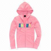 Custom printed women's hoodies from  Fuzhou H&f Garment Co.,LTD
