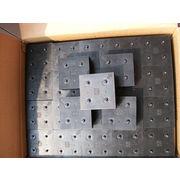 "China Black Nylon Bristles, 4""x4"" Round Foot Part# 82237002 for Gerber S91 Static/TCW/HVCS/GT-52/72"