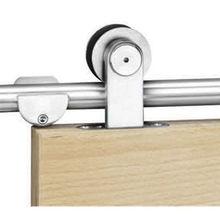 Wooden door sliding system from  Door & Window Hardware Co