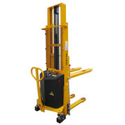Semi-electric Pallet Stacker from  Wuxi Dalong Electric Machinery Co. Ltd