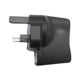 5V 1Amp USB charger with black color plastic housing and UK plug
