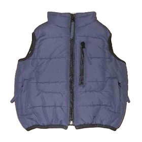 Kids' padded vests from  Qingdao Classic Landy Garments Co. Ltd