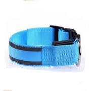 China Novelty Design Nylon LED Reflective Pet Collar