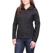 Lady blank waterproof soft shell jacket from  Fuzhou H&f Garment Co.,LTD