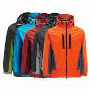 China Men's Ski Jackets in Orange with Inner Fleece Jacket/Waterproof/Windproof/Breathable/Custom Logo
