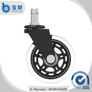 China Factory price rollerblade transparent rubber office chair caster wheel