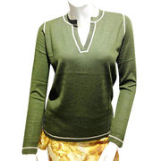 Women's V-neck pullover from  Inner Mongolia Shandan Cashmere Products Co.Ltd